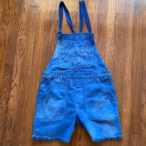 NWOT Free People Button Side Overall shorts